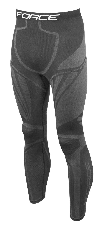 kalhoty/funkční prádlo FORCE FROST  černé L-XL