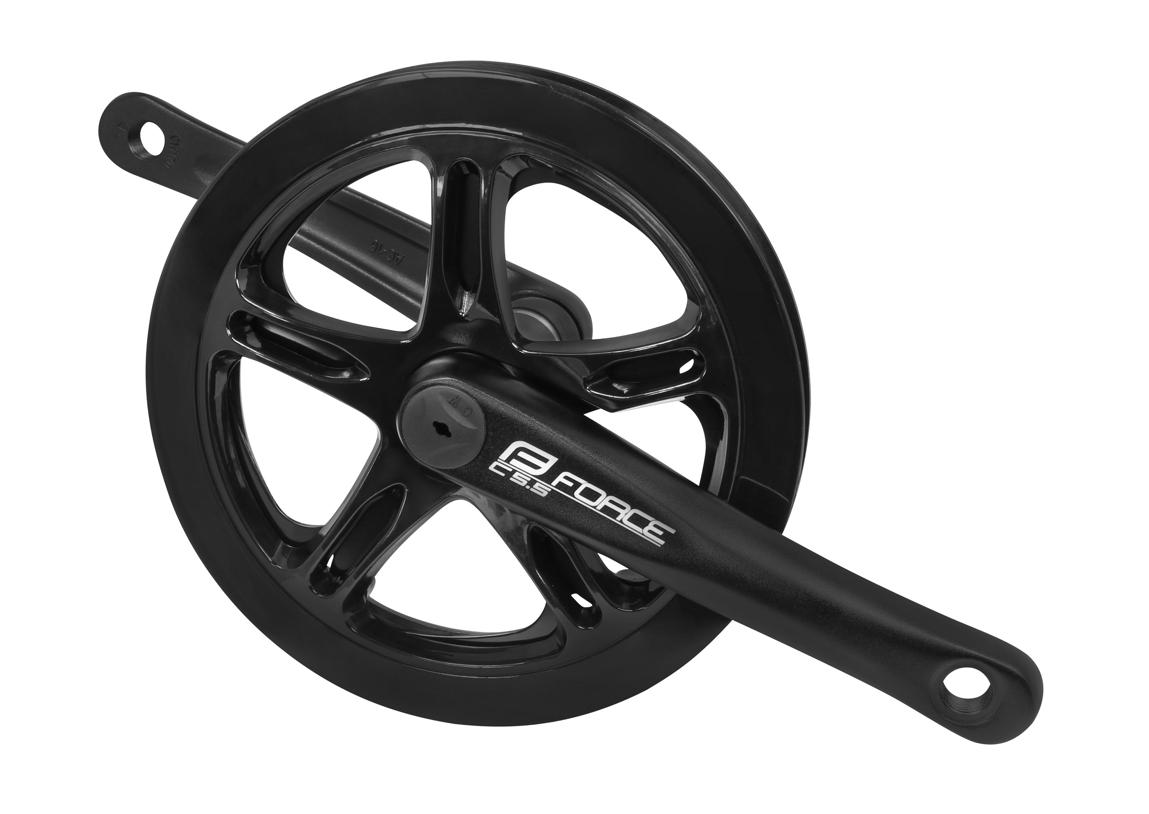 kliky FORCE C5.5 Al 48z 170 mm s krytem, černé