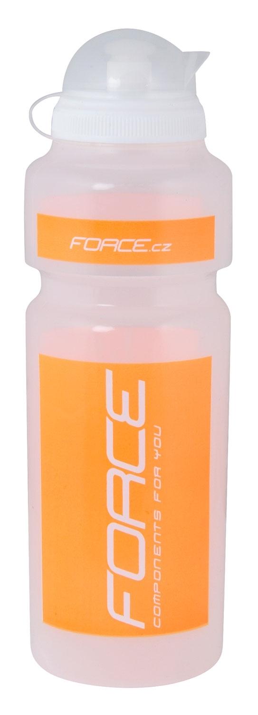láhev FORCE 0,75 l, čirá/oranžový potisk
