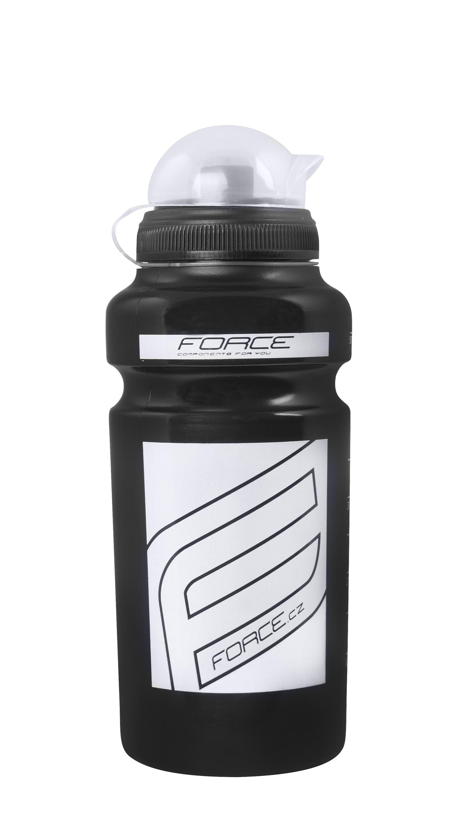 """láhev FORCE """"F"""" 0,5 l, černá / bílý potisk"""