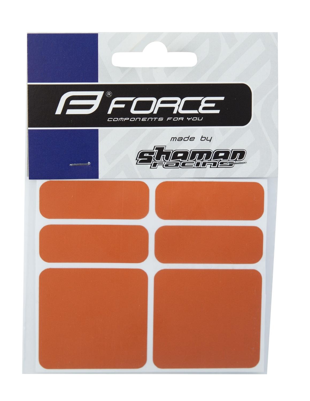 nálepky FORCE reflexní sada 6 ks, oranžové