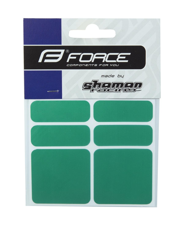 nálepky FORCE reflexní sada 6 ks, zelené
