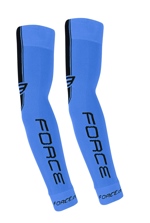 návleky na ruce FORCE pletené, modré L - XL