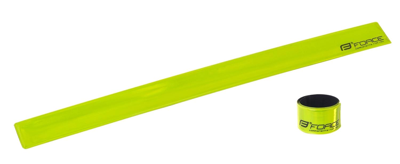 pásek reflexní FORCE samonavíjecí 38 cm, žlutý
