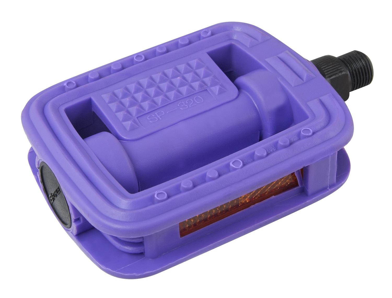 pedály FORCE 320 plast kuličková ložiska, fialové