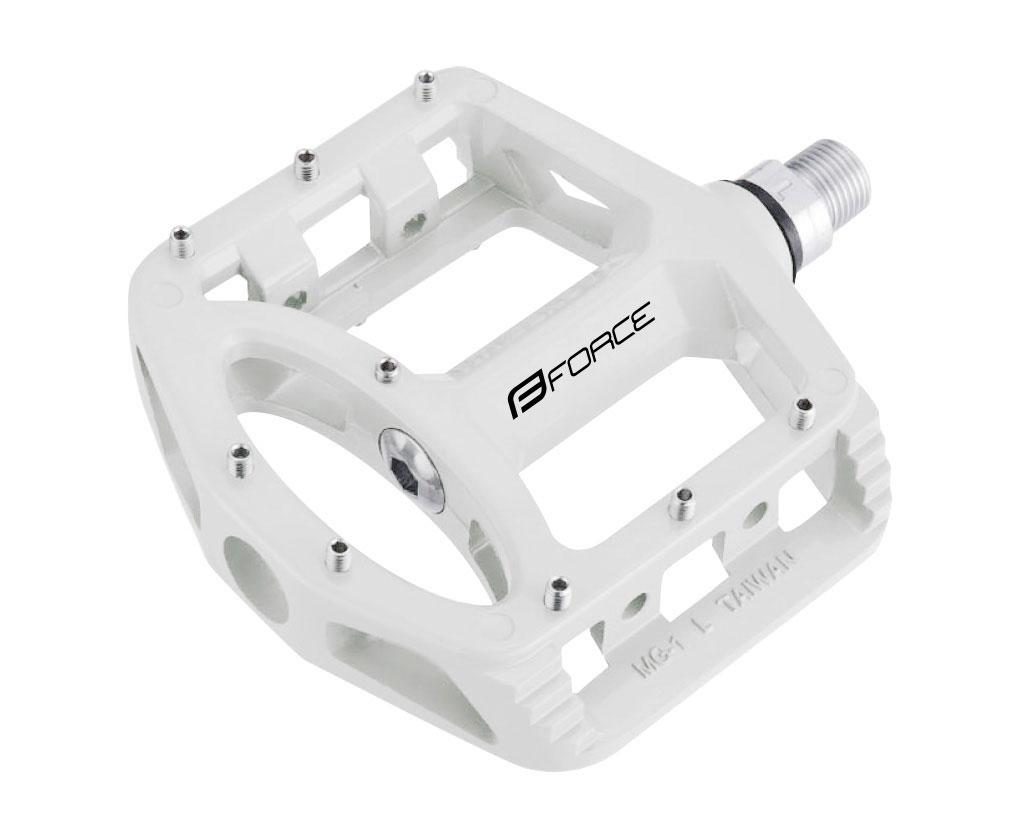 pedály FORCE BMX magnesium výměnné piny, bílé