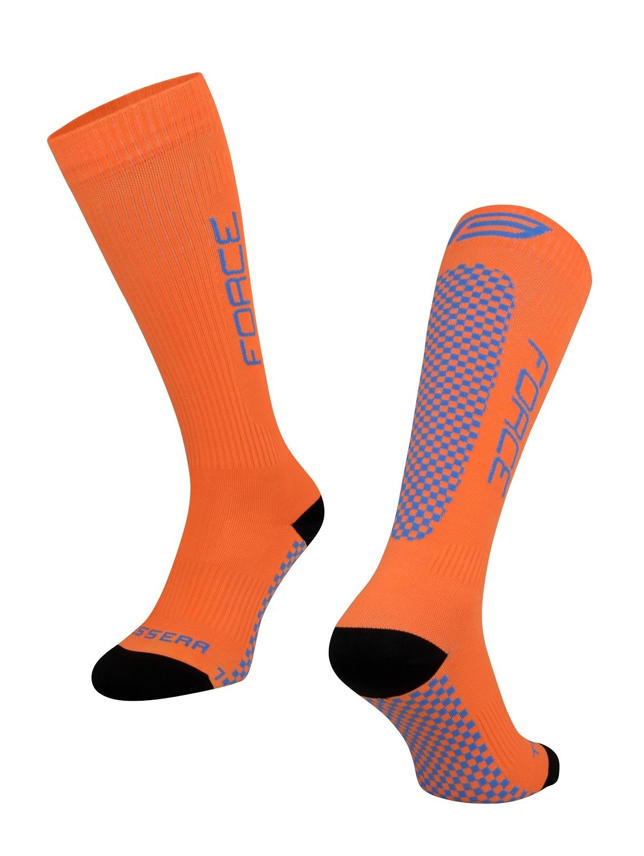 ponožky FORCE TESSERA KOMPRESNÍ, oranžová L-XL