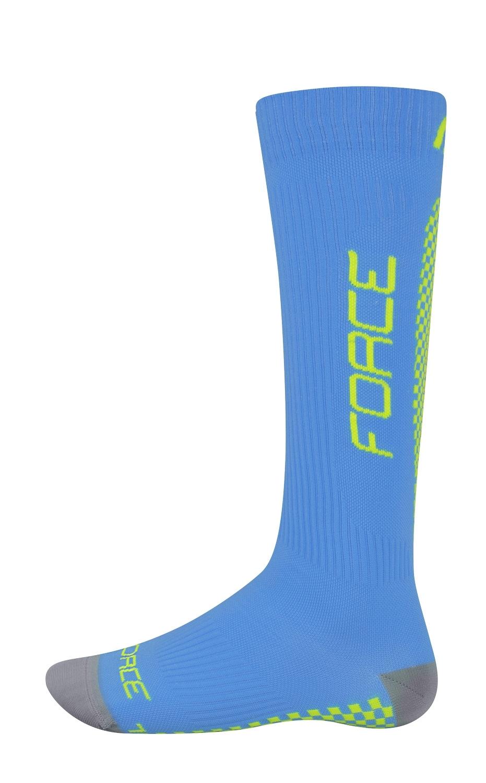 ponožky FORCE TESSERA KOMPRESNÍ širší W,modré L-XL