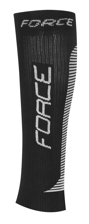 ponožky-kompresní návleky FORCE, černo-bílé