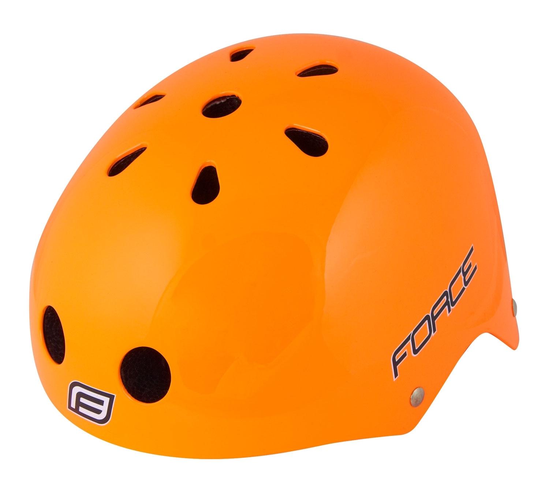 přilba FORCE BMX oranžová-lesklá