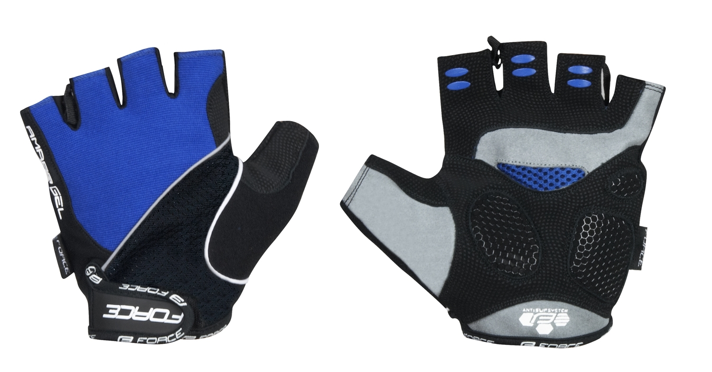 rukavice FORCE AMARA gel modré