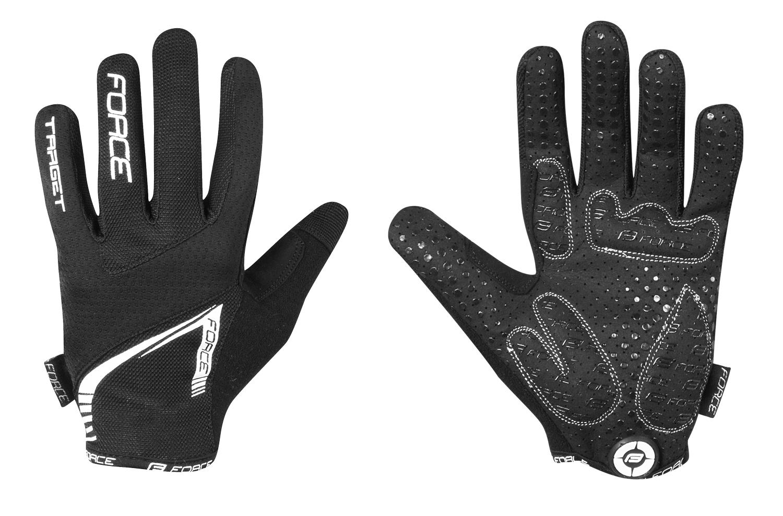 rukavice FORCE MTB TARGET letní, černé