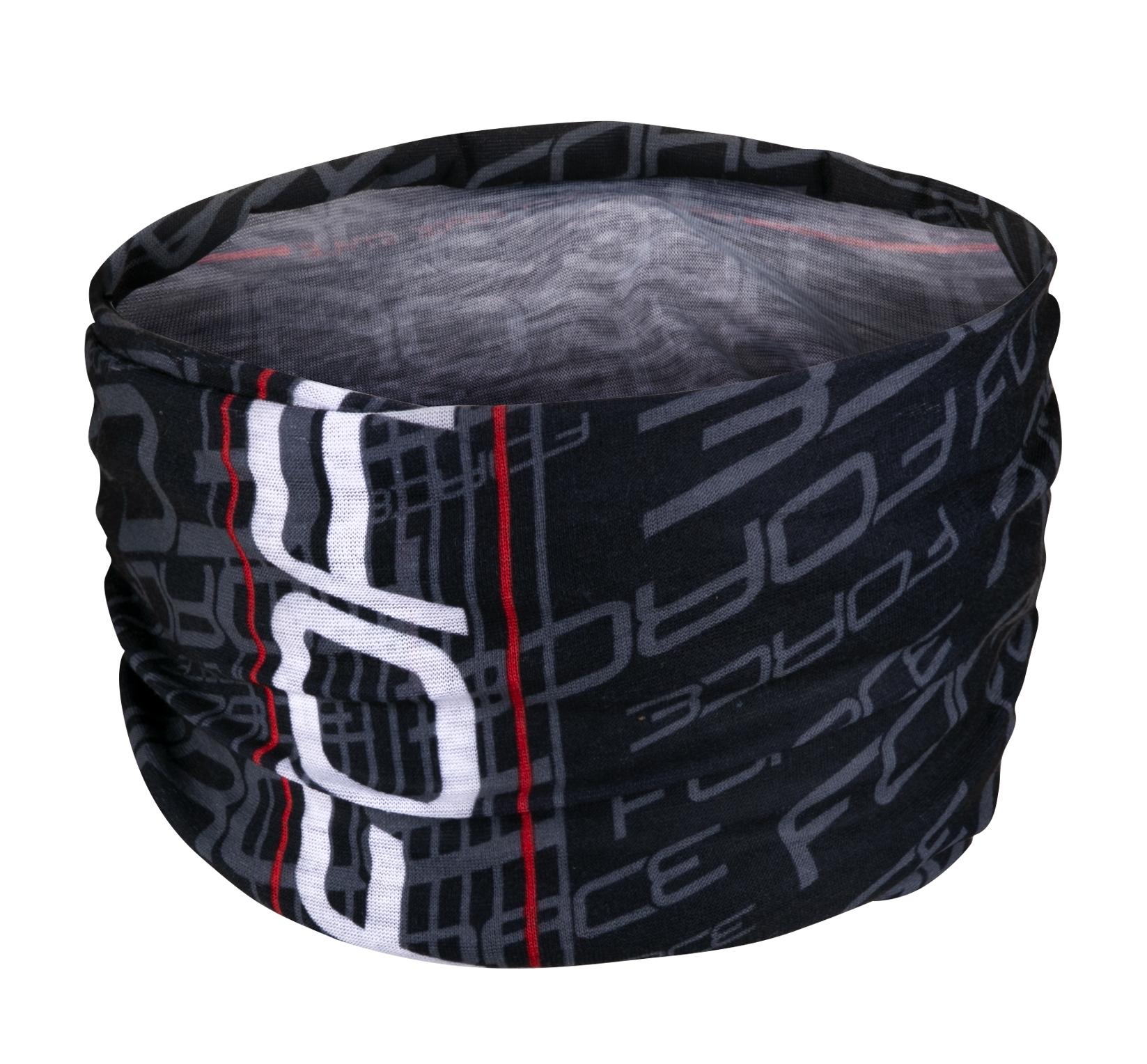 šátek multifunkční FORCE léto, černo-bílý, UNI
