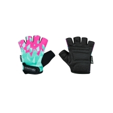 gloves F ANT kid, turquoise-pink
