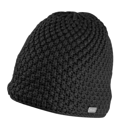 hat winter FORCE GLEE, knitted, black