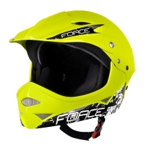 helmet FORCE DOWNHILL junior, glossy fluo S - M