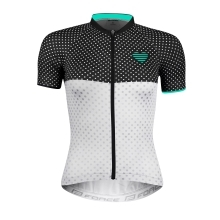 jersey F POINTS lady, sh sl, blck-wh-turquoise