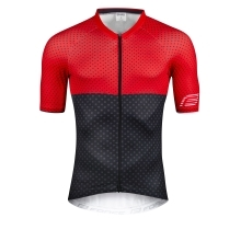 jersey FORCE POINTS, short sleeves, red-grey