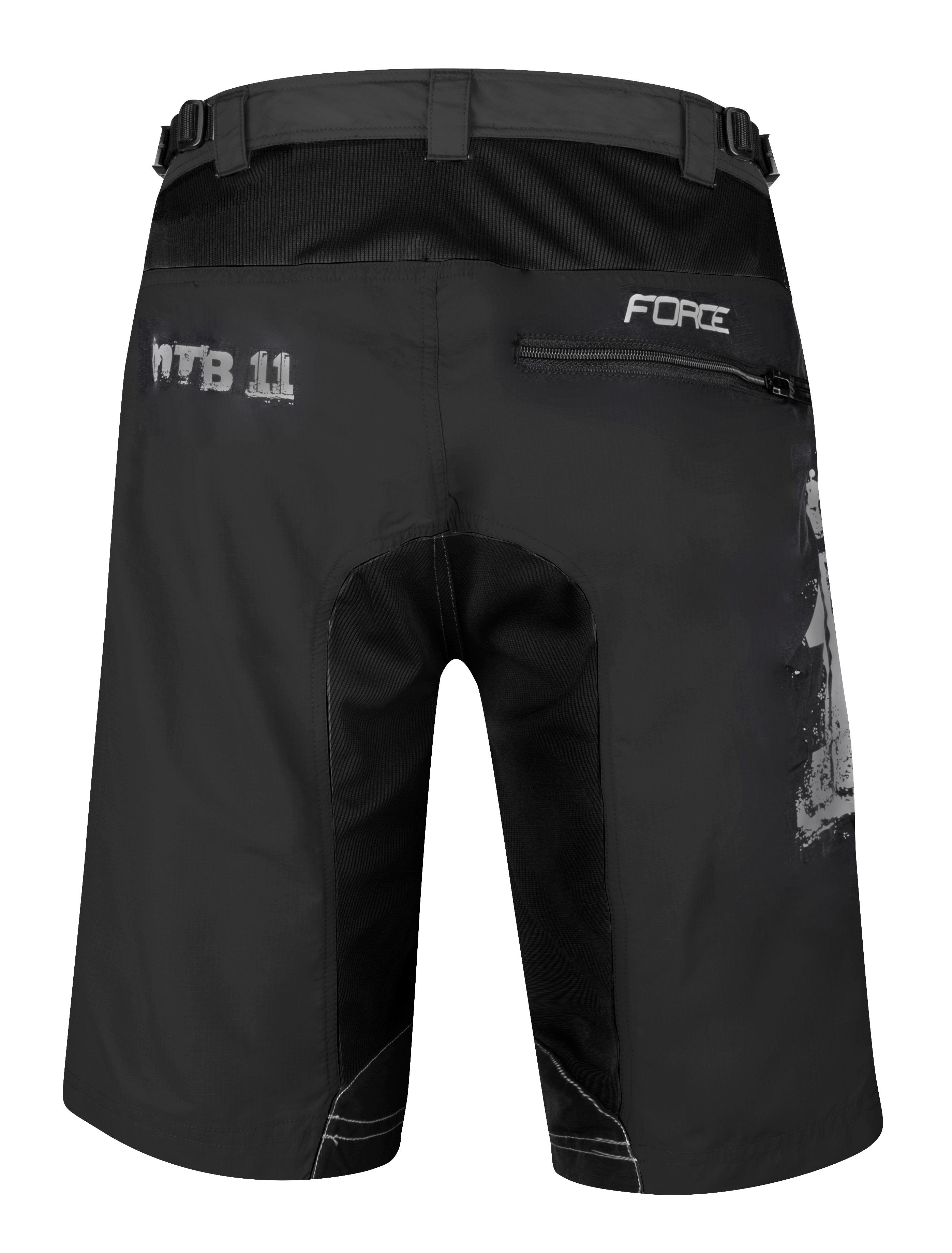 730c3f77f7e97 kraťasy F MTB-11 s odnímatelnou vložkou, černé | Force