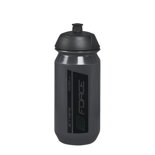 láhev FORCE STRIPE 0,5 l, transparentní černá