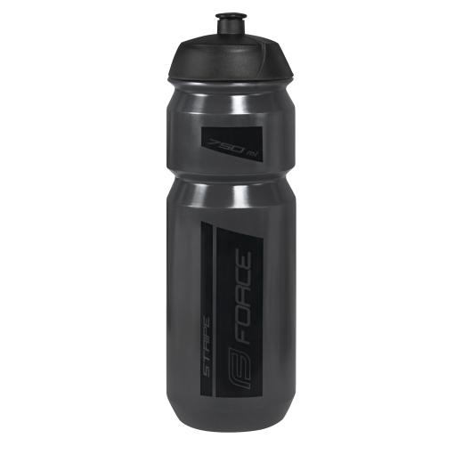 láhev FORCE STRIPE 0,75 l, transparentní černá