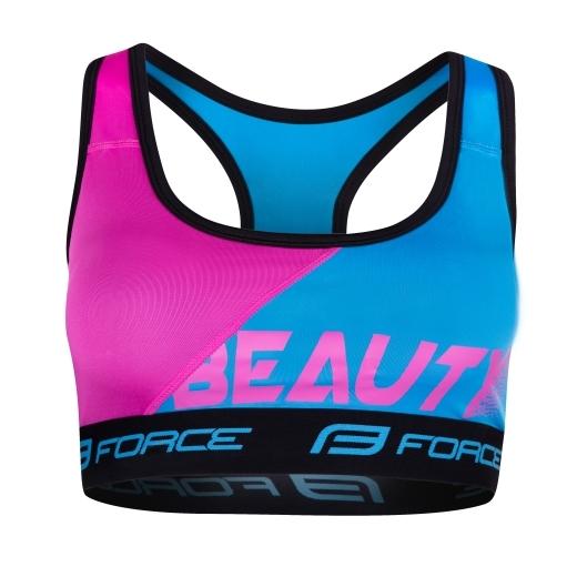 podprsenka sportovní FORCE BEAUTY, modrá-růžová