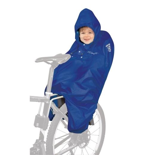 PONCHO-pláštěnka FORCE na dítě v sedačce modré