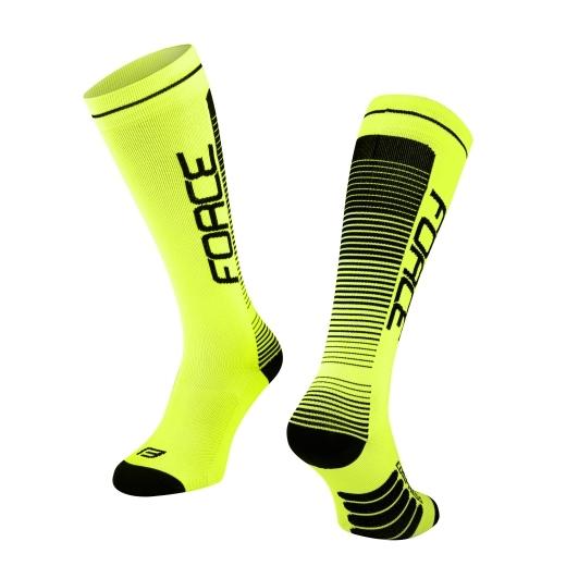 ponožky F COMPRESS, fluo-černé
