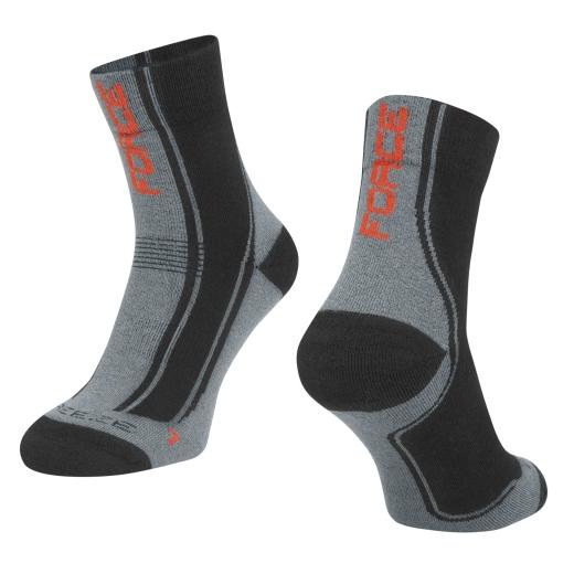 ponožky F FREEZE, černo-šedo-červené
