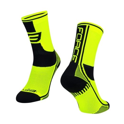 ponožky F LONG PLUS, fluo-černé