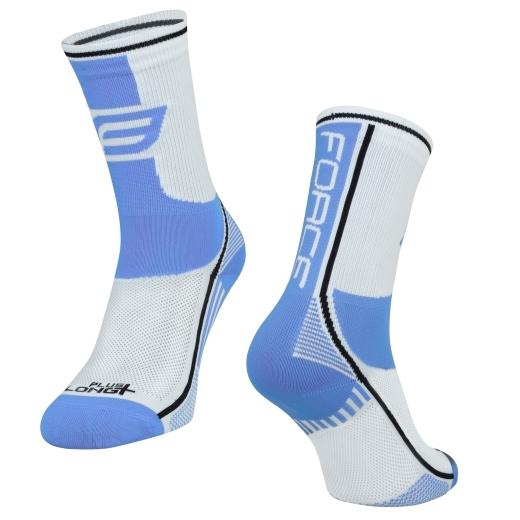 ponožky F LONG PLUS, světlemodro-bílé