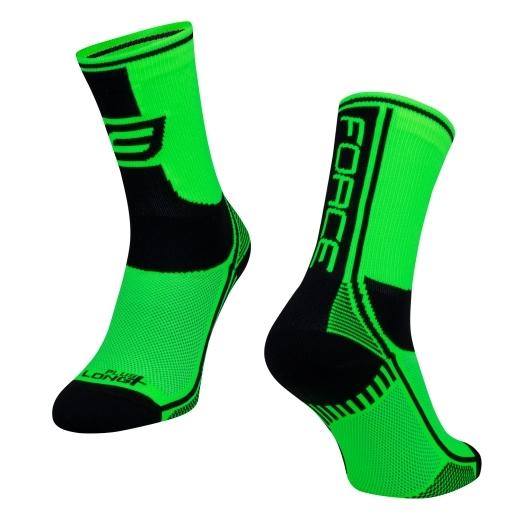 ponožky F LONG PLUS, zeleno-černo-bílé