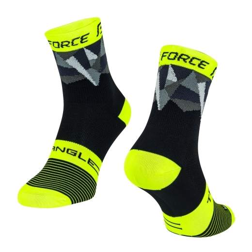 ponožky F TRIANGLE, černo-fluo-šedé