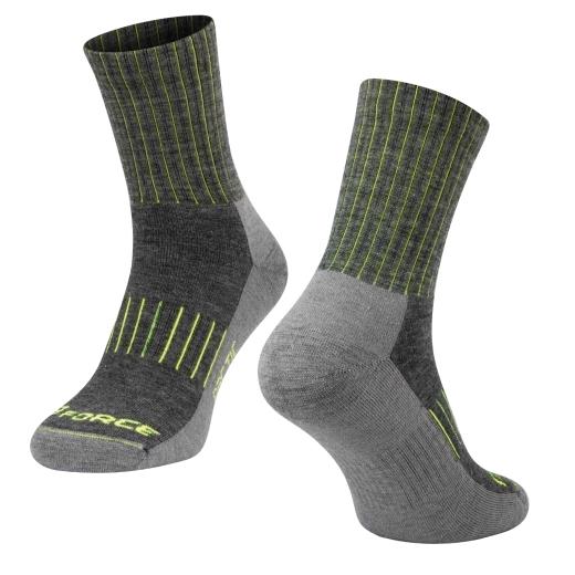 ponožky FORCE ARCTIC, šedo-fluo