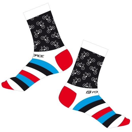 ponožky FORCE CYCLE, bílé