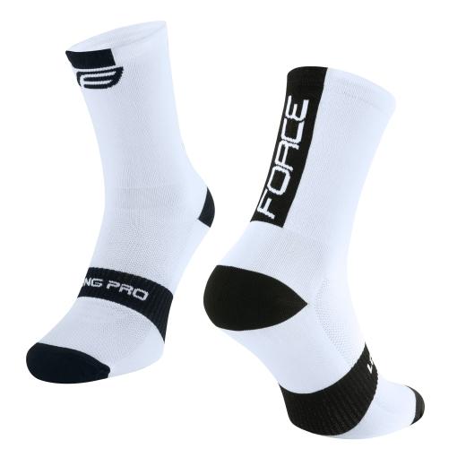 ponožky FORCE LONG PRO, bílo-černé
