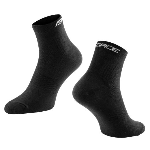 ponožky FORCE MID volnočasové, černé