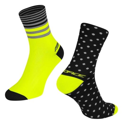 ponožky FORCE SPOT, černo-fluo