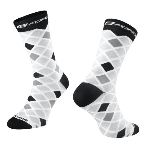 ponožky FORCE SQUARE, bílo-černé