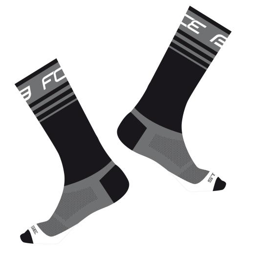 ponožky FORCE STAGE, černo-šedé