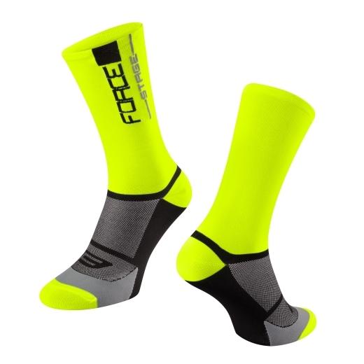 ponožky FORCE STAGE, fluo-černé