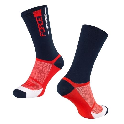 ponožky FORCE STAGE, modro-červené