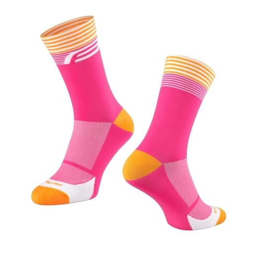 ponožky FORCE STREAK, růžovo-oranžové