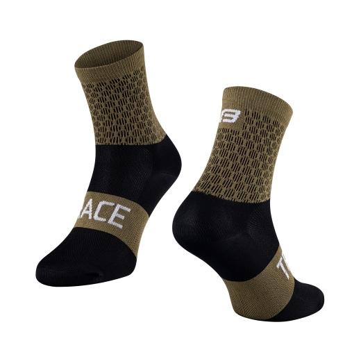 ponožky FORCE TRACE, zeleno-černé