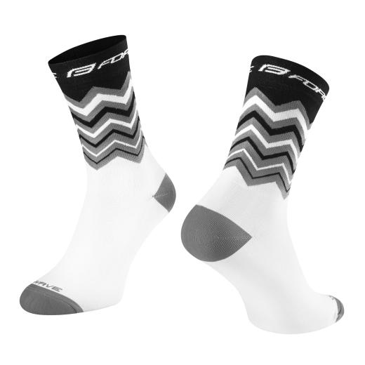 ponožky FORCE WAVE, černo-bílé