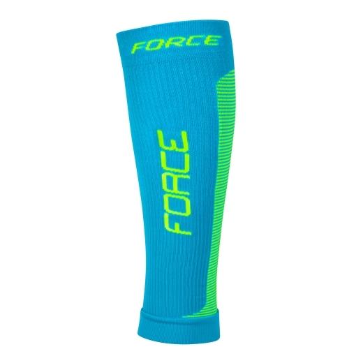 ponožky-kompresní návleky FORCE, modro-fluo