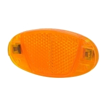 reflector for spokes 80 x 40 mm, orange
