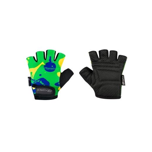 rukavice F PLANETS dětské, zeleno-žluté