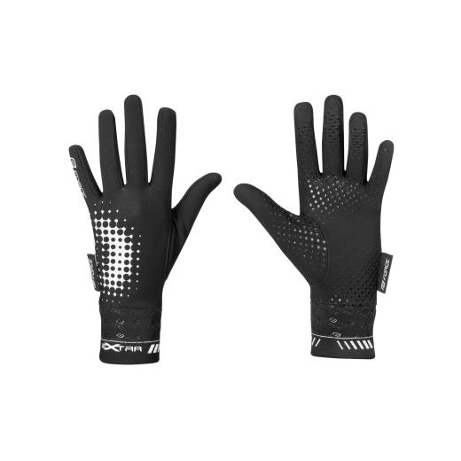 rukavice FORCE KID EXTRA, jaro-podzim, černé