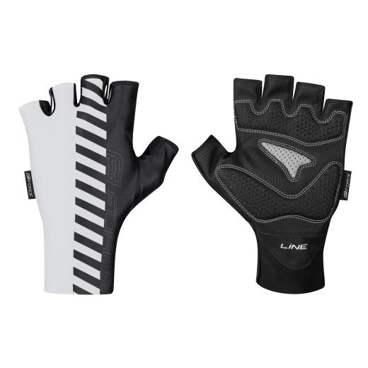 rukavice FORCE LINE bez zapínání, bílo-černé